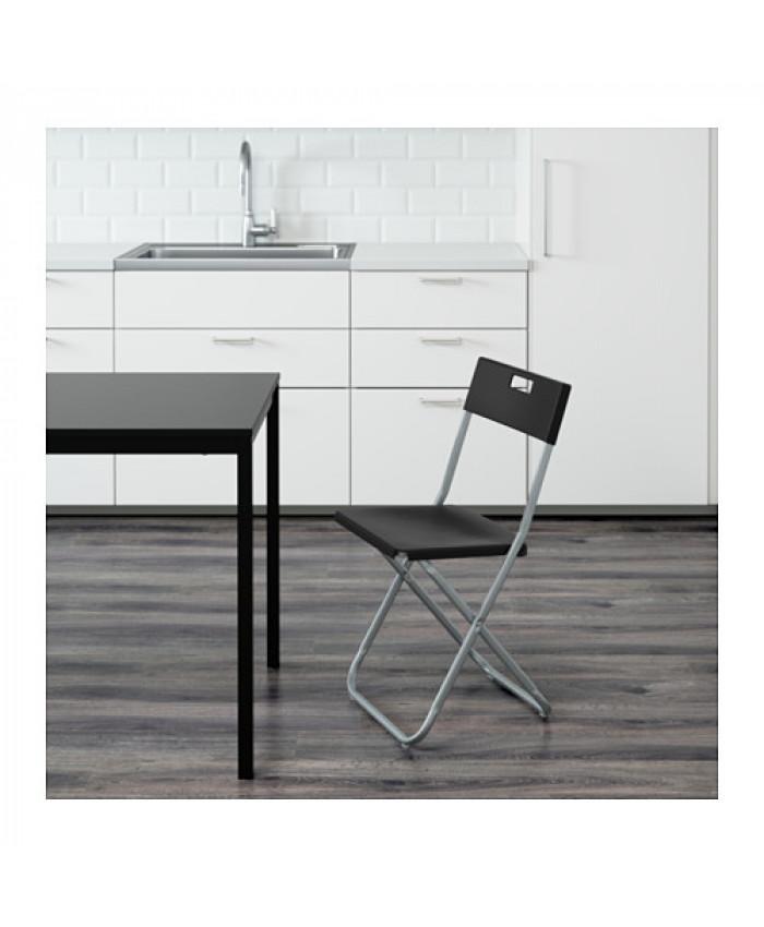 დასაკეცი სკამი GUNDE შავი