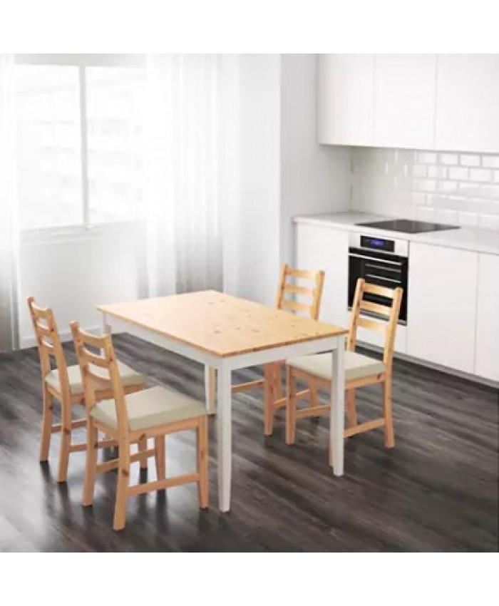 სასადილოს მაგიდა LERHAMN  თეთრი/ხისფერი
