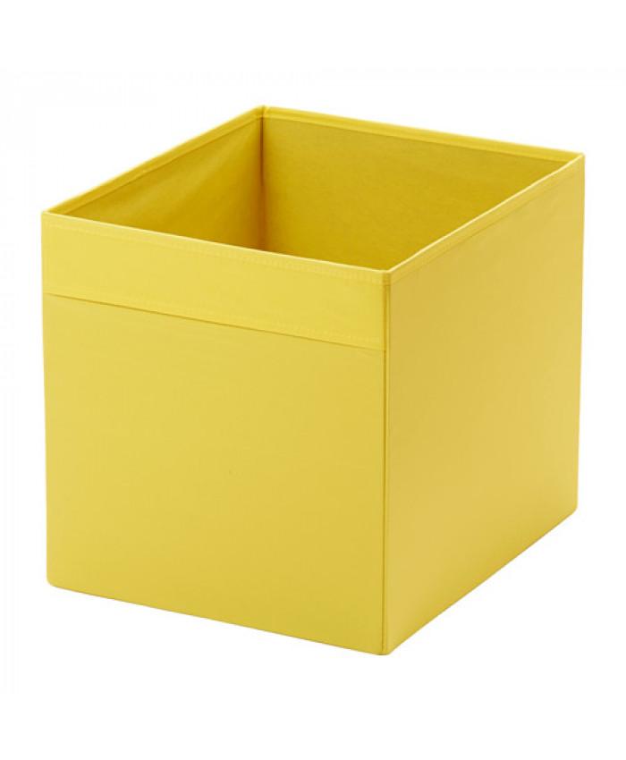 ნაჭრის ყუთი DRÖNA ყვითელი