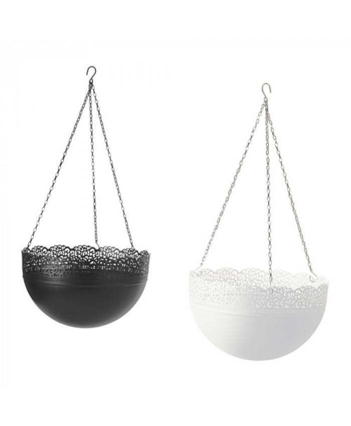 ქოთანი საკიდით SKURAR 30 სმ შავი/თეთრი