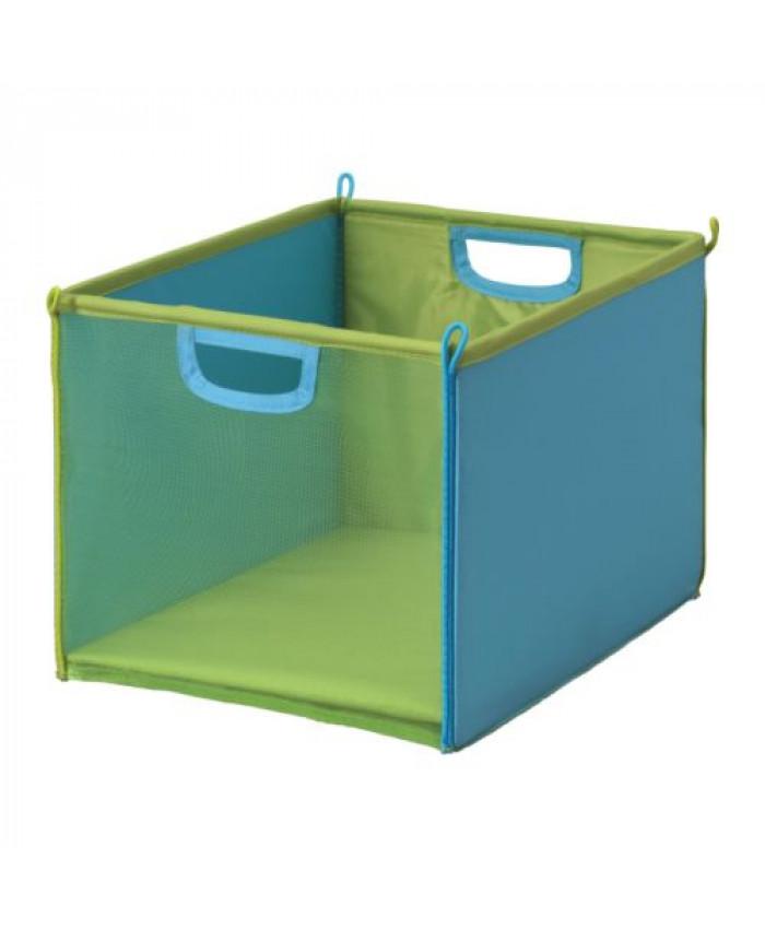 სათავსო ყუთი KUSINER მწვანე-ფირუზისფერი /საბავშვო
