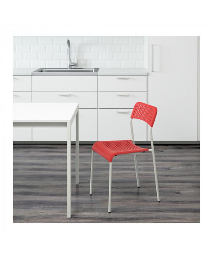 სკამი ADDE წითელი/თეთრი