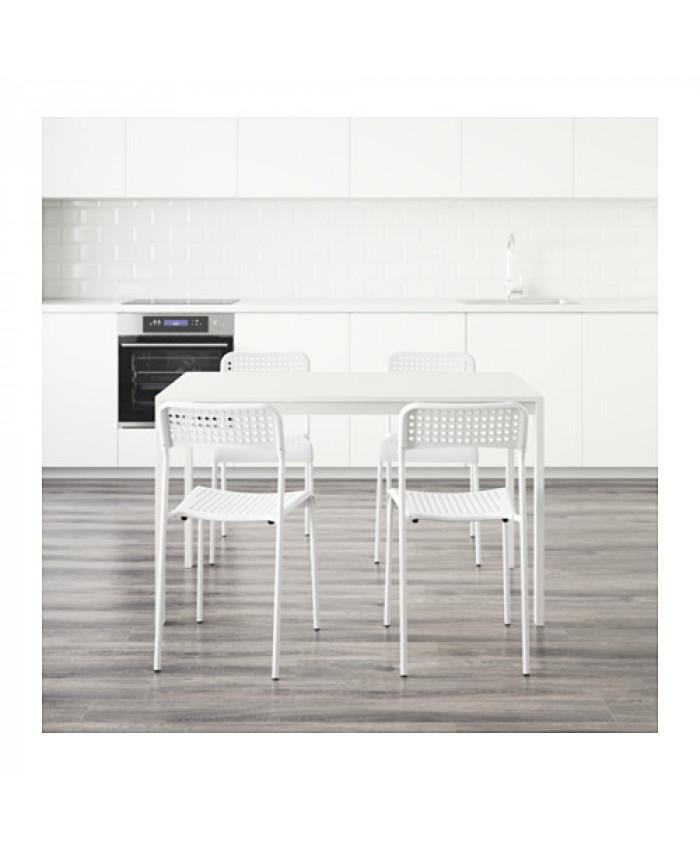 სამზარეულოს მაგიდა და სკამი, MELLTORP/ADDE თეთრი