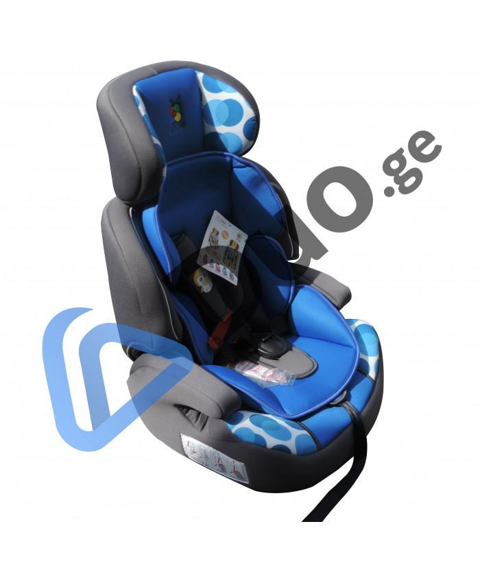 საბავშვო სავარძელი ავტომობილისთვის Kinderland (ლურჯი)
