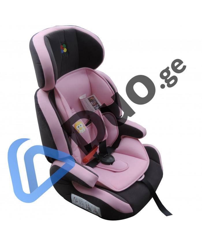 საბავშვო სავარძელი ავტომობილისთვის Kinderland (ვარდისფერი)