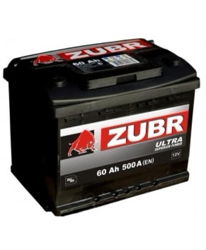 აკუმულატორი ZUBR 60AH