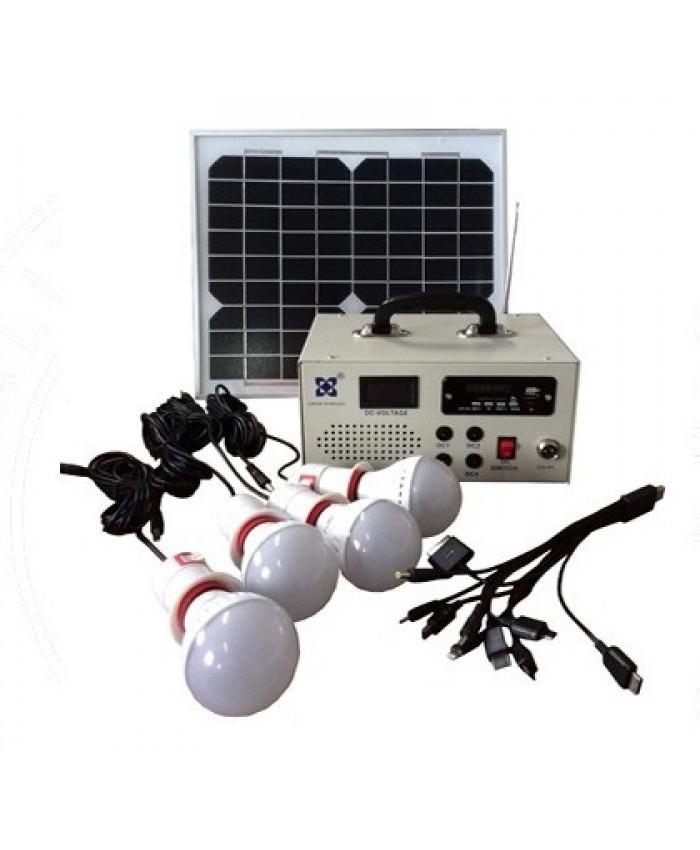 მზის სისტმაზე მომუშავე 4 ნათურა LCKJ  რადიო სისტემით