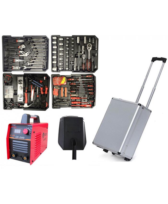 აქცია: ხელსაწყოების ნაკრები 186 ნაჭრ + შედუღების აპარატი EDON 200 სრული კომპლექტაციით!