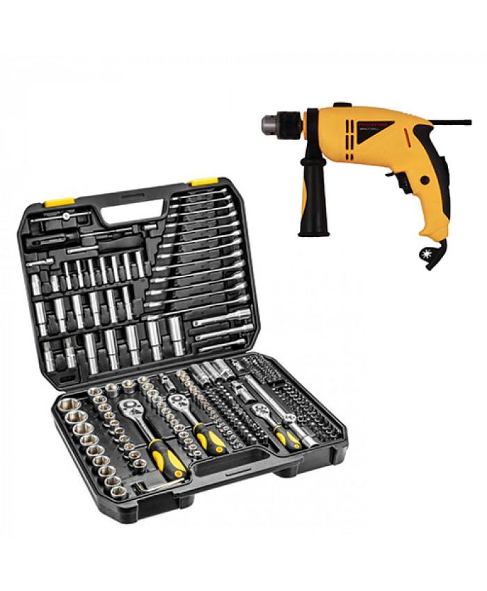 ხელსაწყოების ნაკრები TOPEX 219ც (პოლონეთი) + დრელი საჩუქრად!