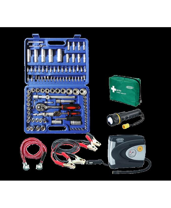 ხელსაწყოების ნაკრები VANADIUM 108 ც + 5 ავტომობილისთვის აუცილებელი ნივთი სპეც ფასად!