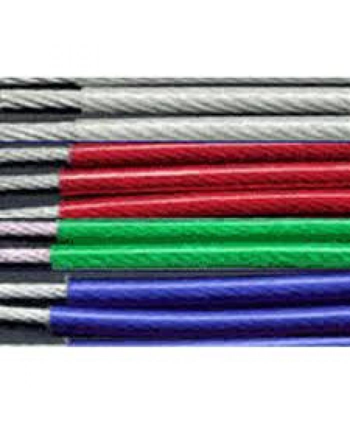 ტროსი მეტალის PVC დაფარვით 2/3 მმ.200 მტ. /რულონი